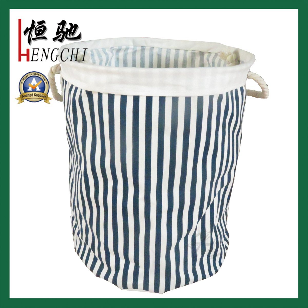 Folding Storage Laundry Hamper Canvas Cotton Clothes Basket