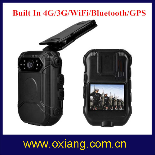 Police Body Worn Camera with WiFi / Bluetooth / 4G / 3G / GPS