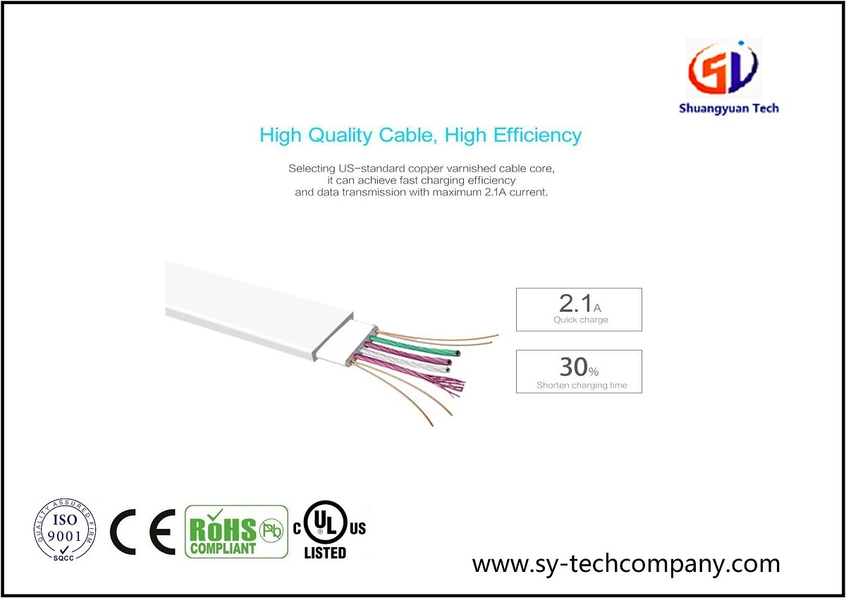 8 Pin Lightning Micro USB Cable Cord for Apple iPhone