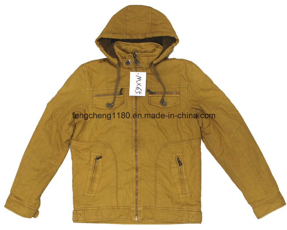 High Quality Men Garment Dyed Winter Jacket/ Coat