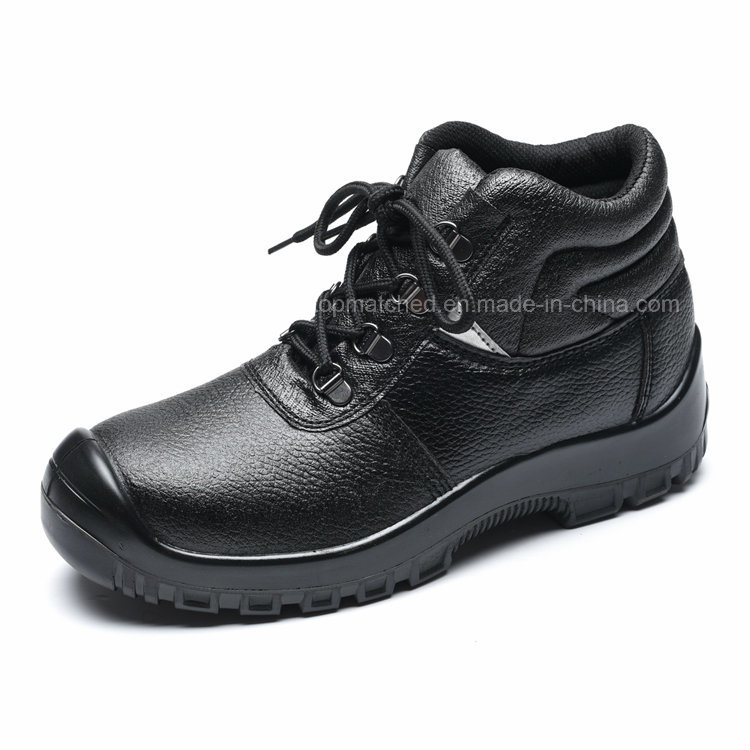 PU Injection Genuine Leather Welding Safety Shoe with Steel Toe Cap