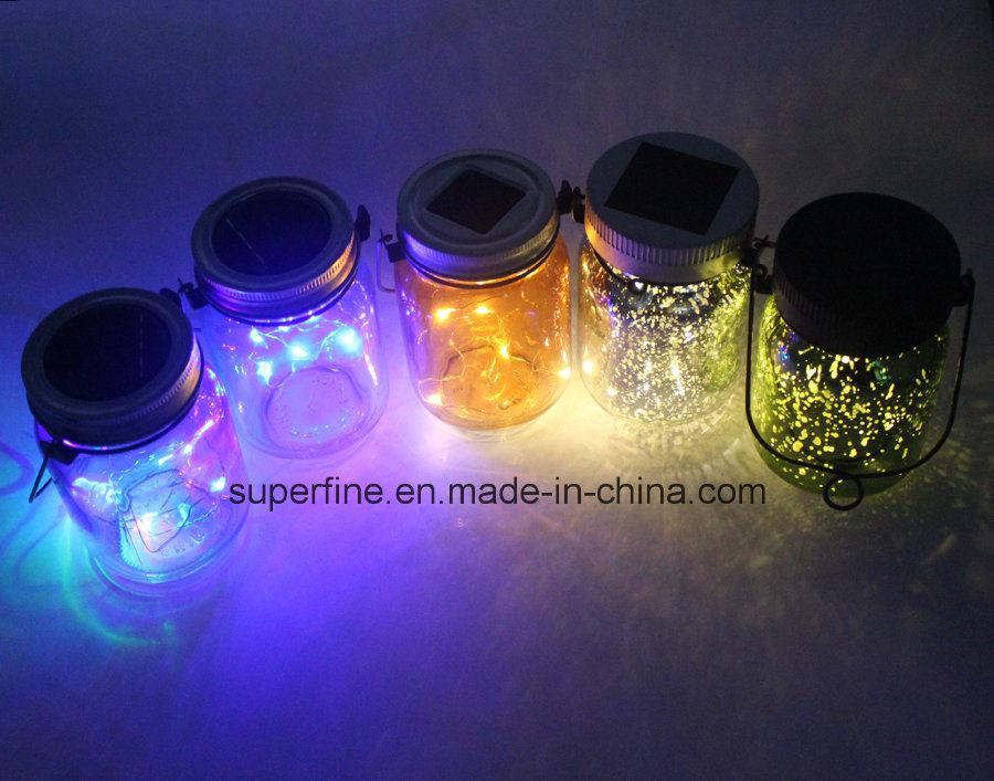 Home Decoration Romantic LED Solar Fairy Flickering Light Jar