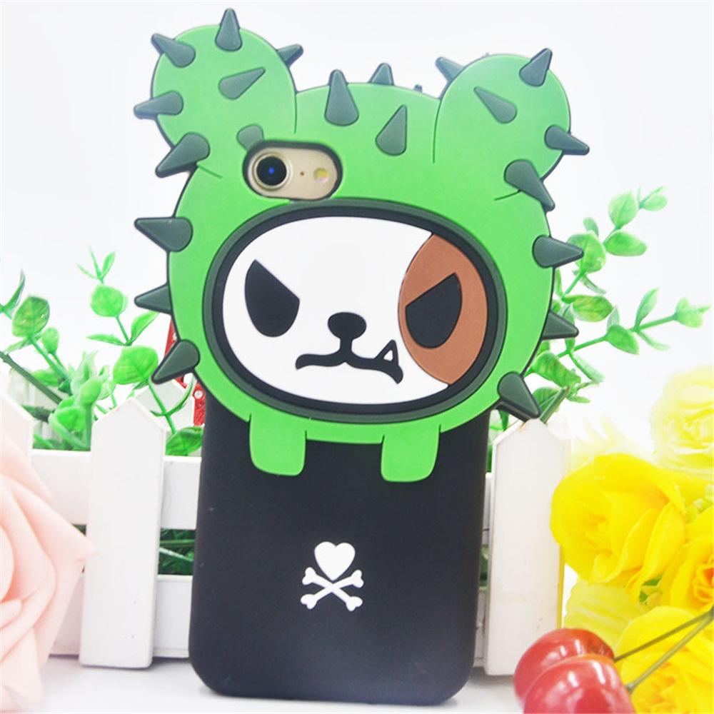 Wholesale Korean Cute Cactus 3D Silicone Phone Cases