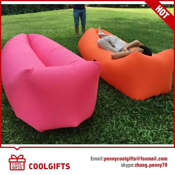 2016 Fashion Inflatable Single Layer TPU Lazy Air Hangout Sleeping Sofa