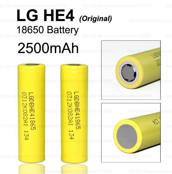 18650 LG He4 Rechargeable Lithium-Ion Battery 2500mAh/35A