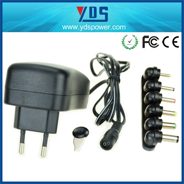 3V/4.5V/5V/7V/7.5V Universal Wall Plug in Adapter with USB