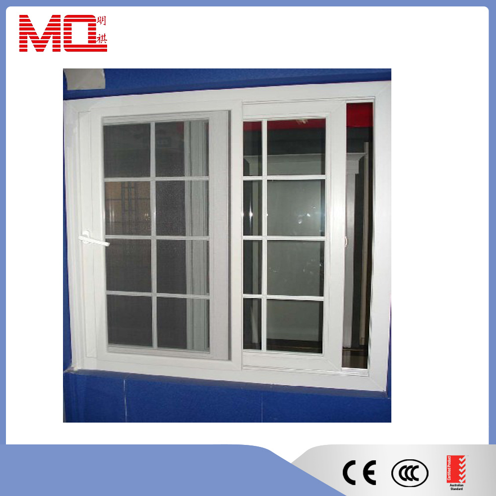 Plastic Window UPVC Sliding Window Grill Design