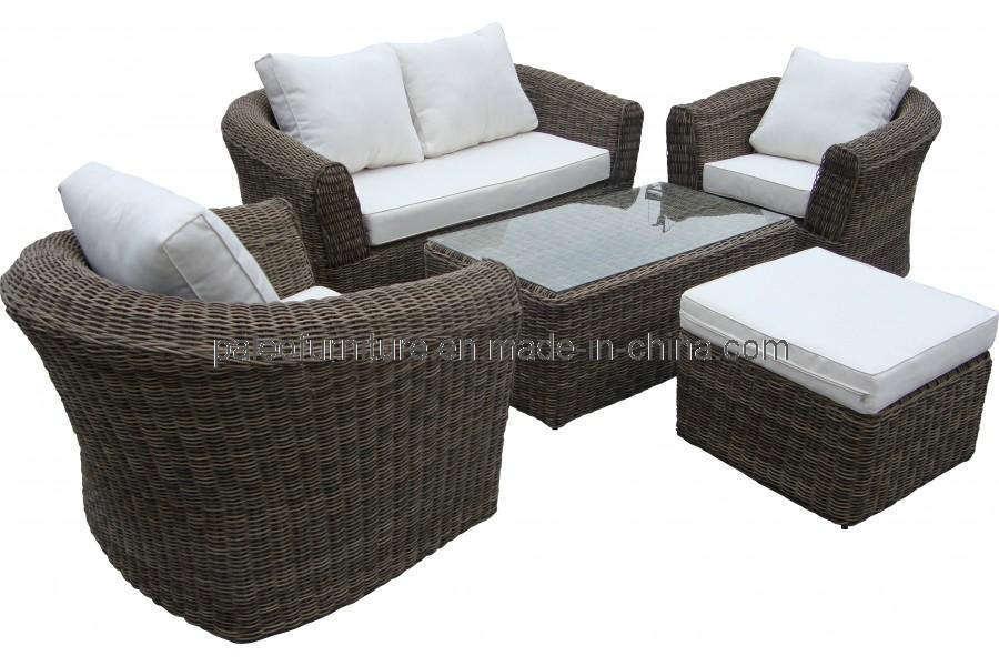 China Garden Outdoor Wicker Patio Round Rattan Sofa Pas 030 China Round Wicker Double Sofa