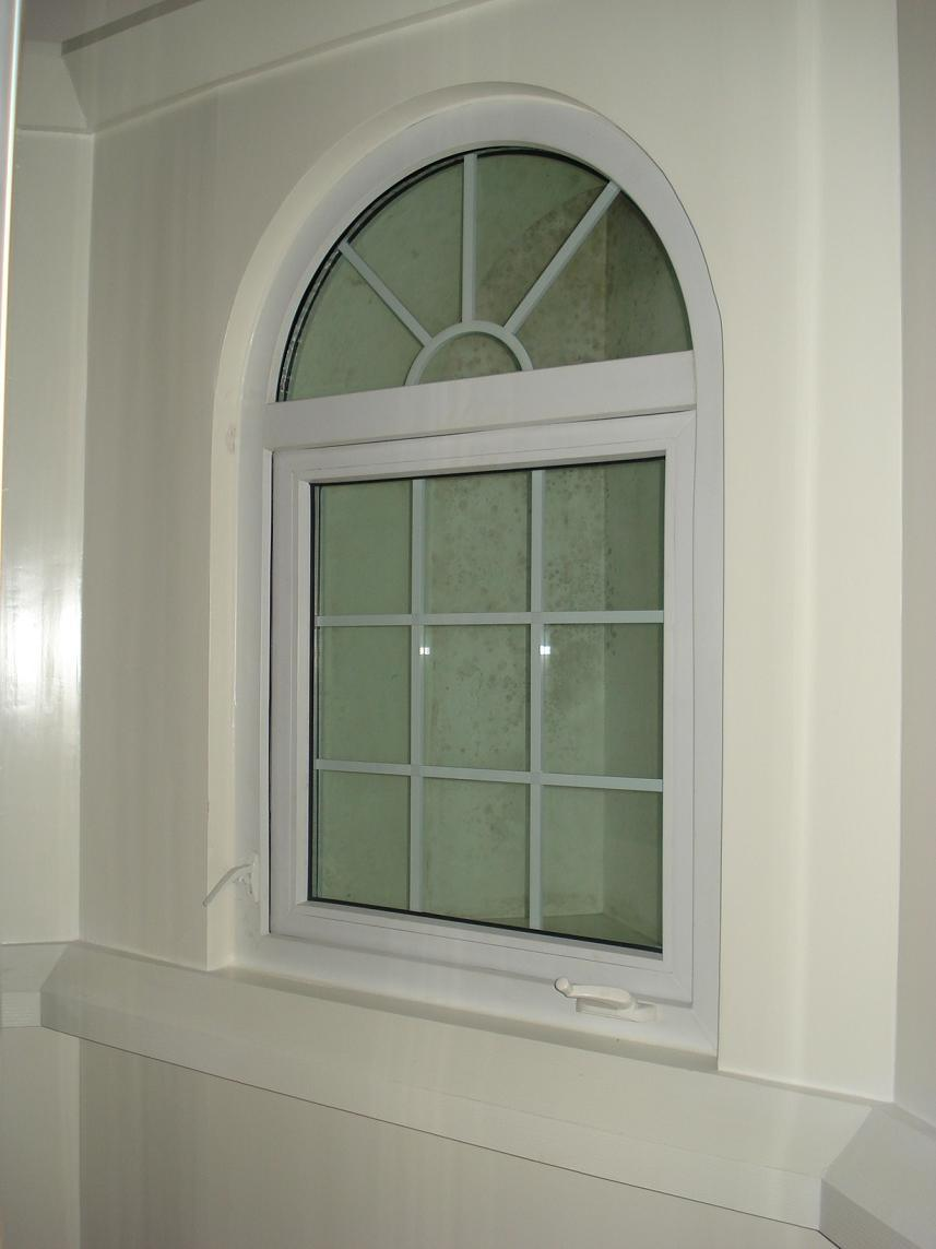 china pvc casement window with arch top china casement