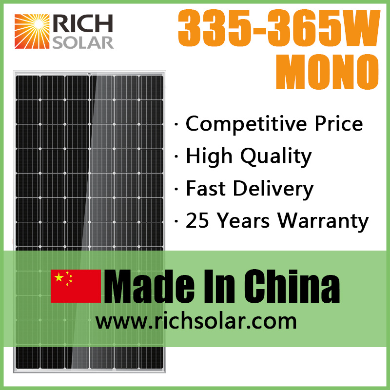 350W High Quality Photovoltaic PV Monocrystalline Solar Module Solar Panel