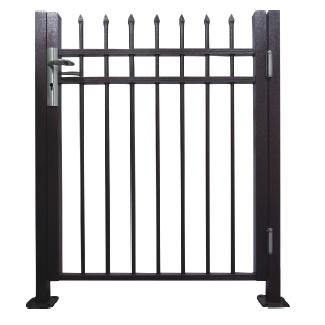 Aluminum Black Fence Gate for Residential Used