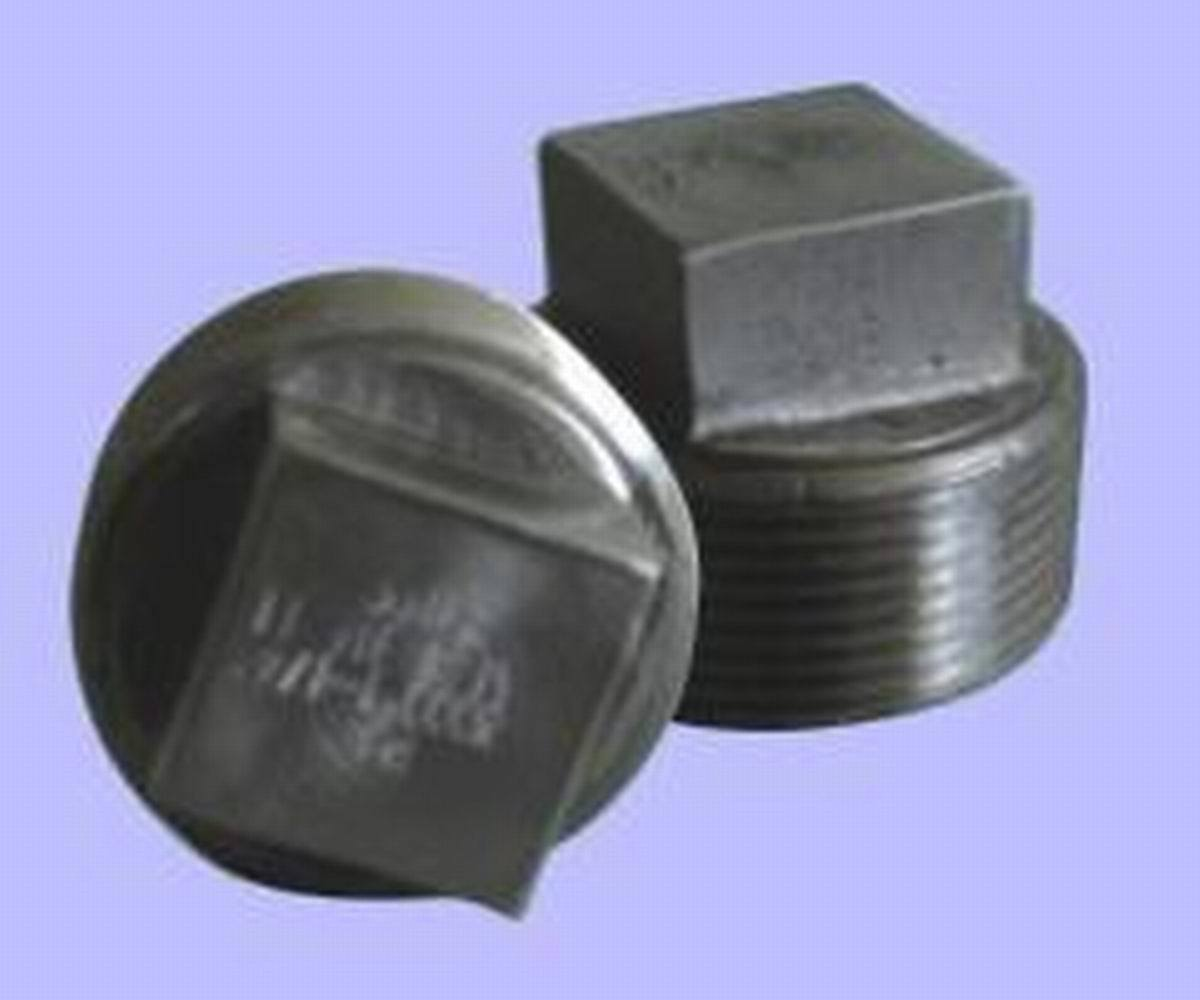 China forged steel pipe fitting square head plug
