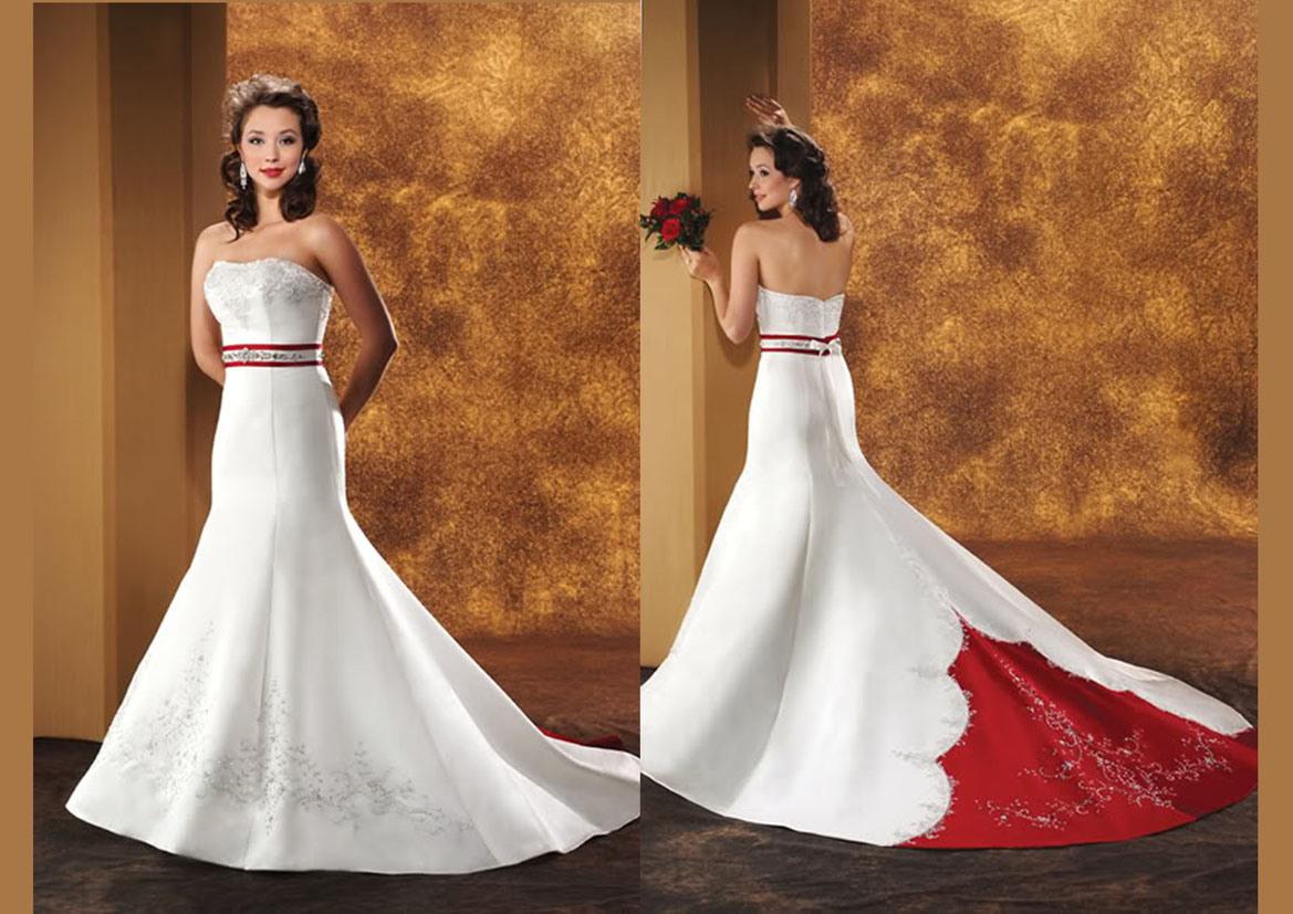 China White Wedding Dress RS 179