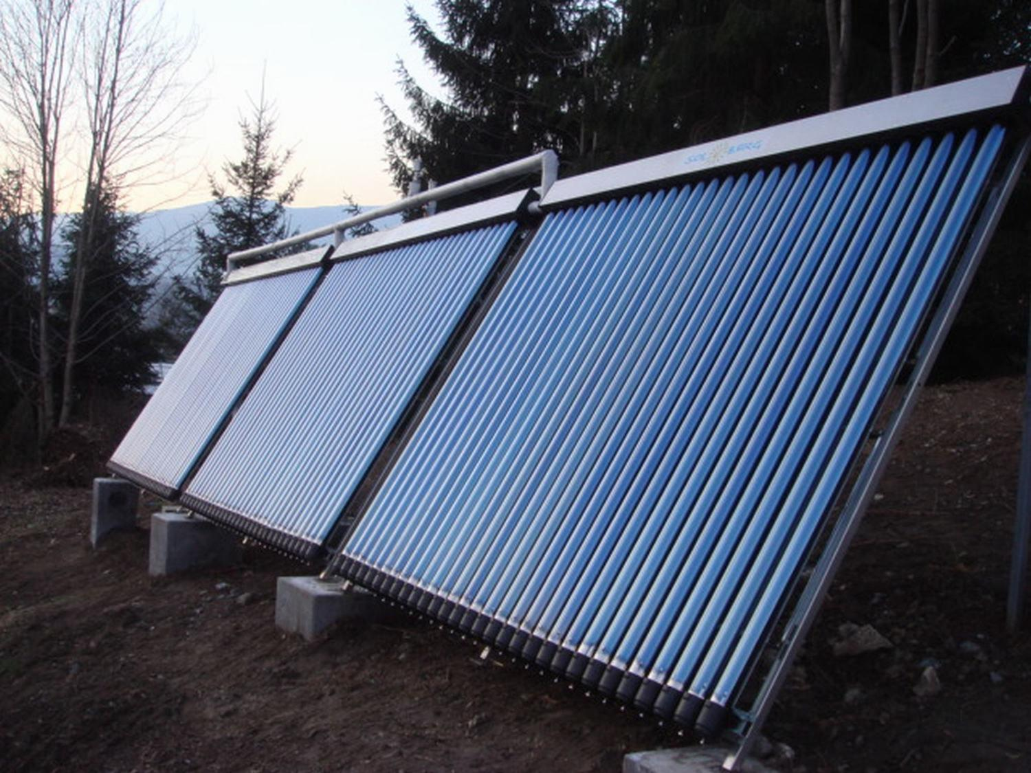 Heat Pipe High Pressure Split Solar Collector