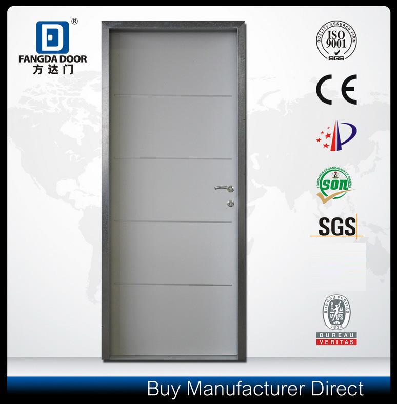 Decorative Aluminium Strips Inserted Residential Interior Steel Metal Security Door