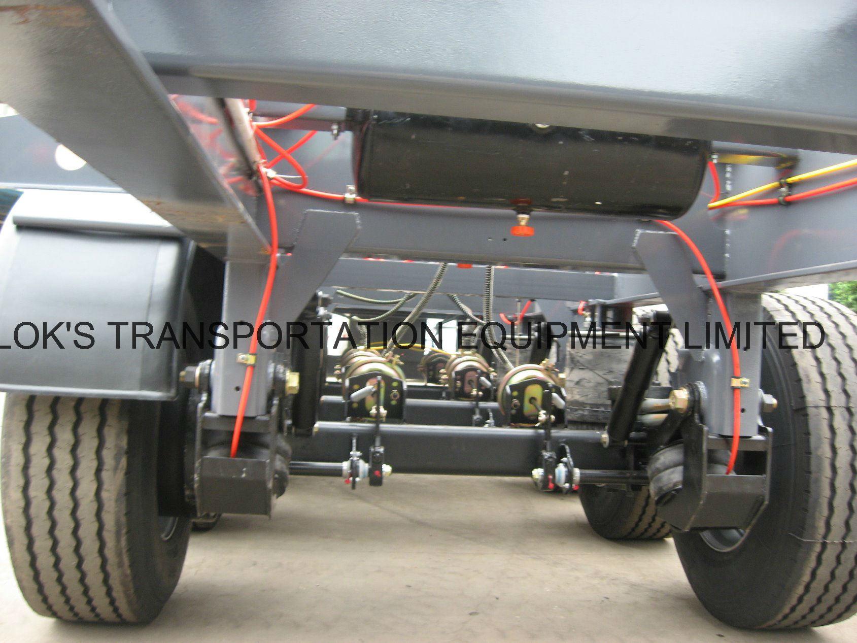 40 Feet 3axles Flatbed Semi Trailer/Single Tyre