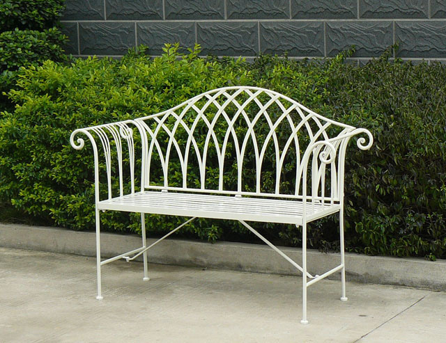 2013 Newest Very Nice Vintage Fashion Folding Antique Classical Antirust Metal Decorative Garden Patio Outdoor Wrought Irons Bench with Two Seats