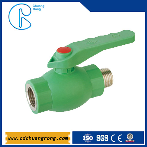PPR Plumbing Ball Valve with Brass Ball for Hot Water