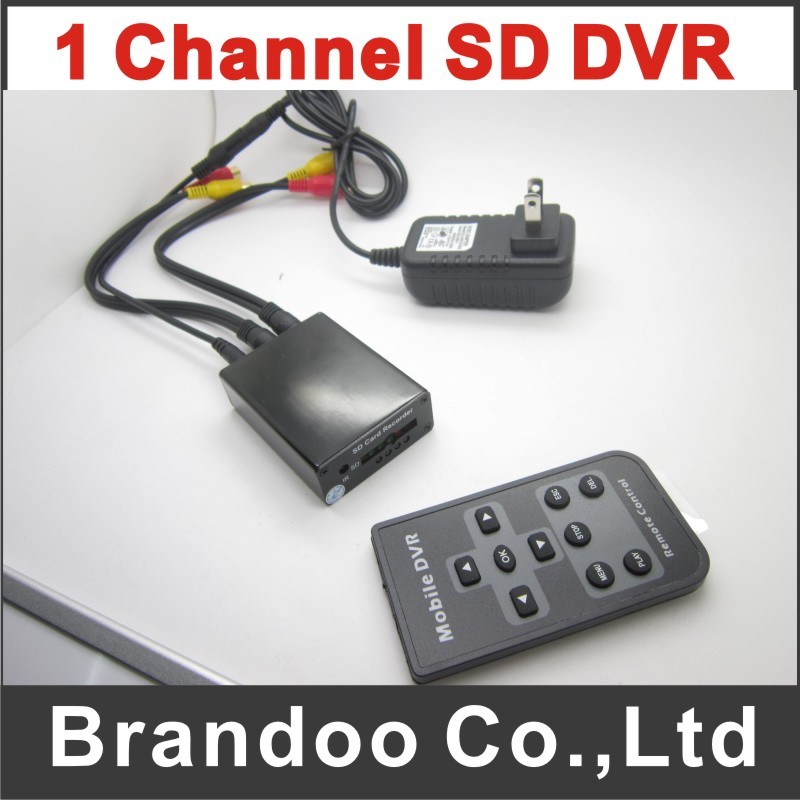 Mini SD DVR Works with Remote Controller