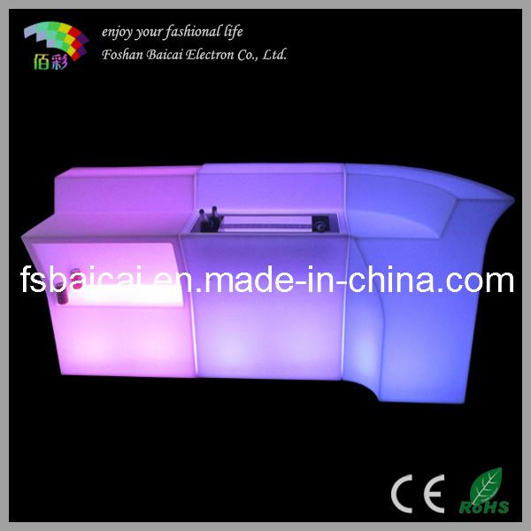 Modern Illuminated Commercial LED Bar Counter Design (BCR-861T)