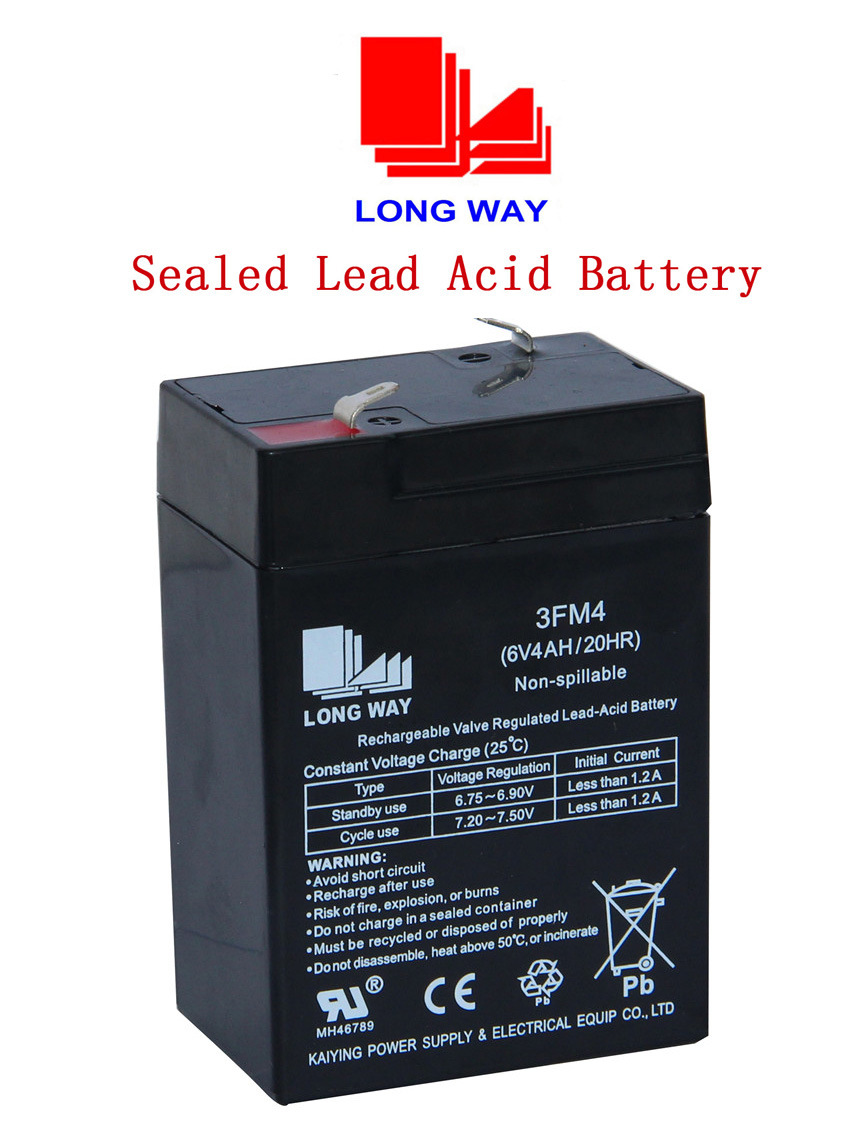 6V4ah Toys Rechargeable Maintenance Free Sealed Lead Acid Battery