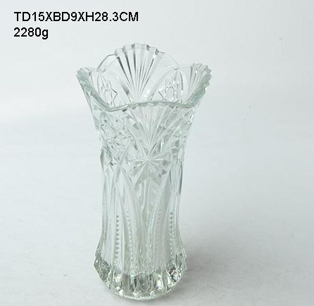Glass Vase/Glassware/Vase (40-0217-SV)