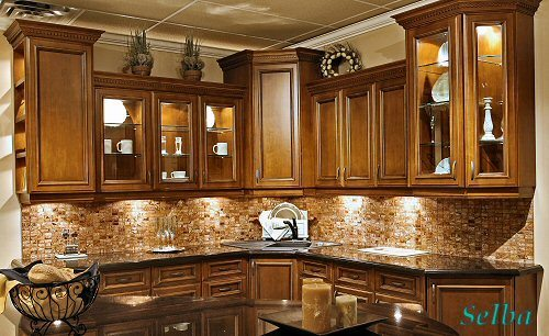 Rococo (Cherry Solid Wood Kitchen Cabinets) - China Kitchen