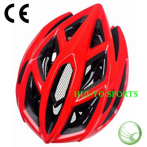 Red Bike Helmet, Stylish Bicycle Helmet, Big Hole Road Helmet