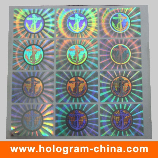 Anti-Counterfeiting Security Holographic Sticker Label