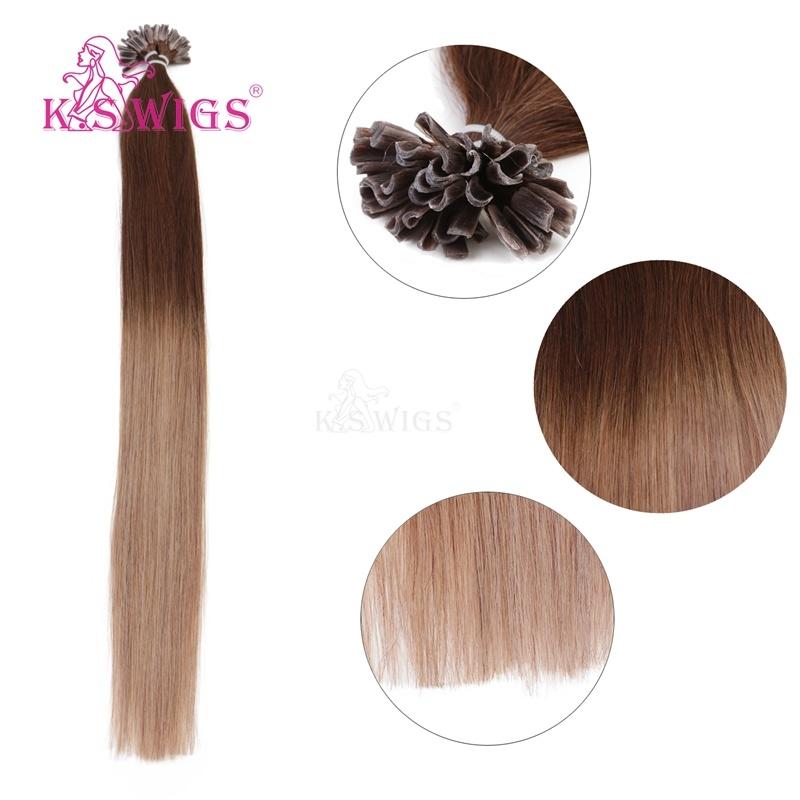 K. S Wigs Top Grade U Tip/ Nail Hair Keratin Hair Indian Remy Hair Human Hair Extension