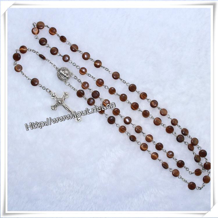 Rosary, Plastic Rosary, Beads Rosaries, Plastic Beads Rosaries (IO-cr343)