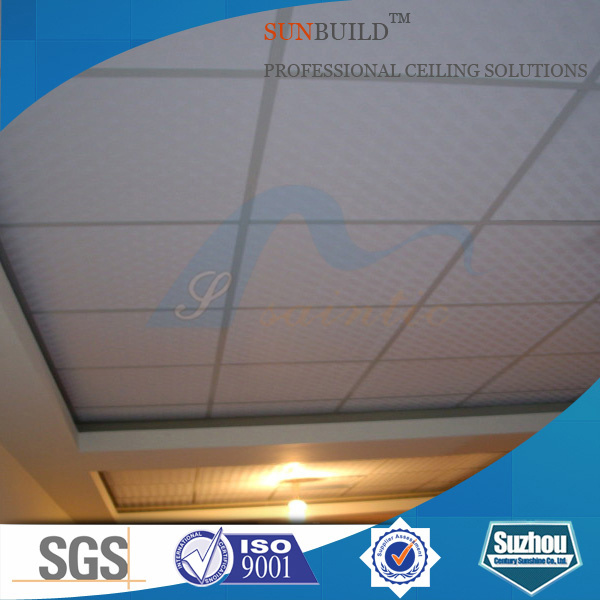 PVC Laminated (coated) Gypsum (plaster board) Suspended Ceiling Tiles (ISO)