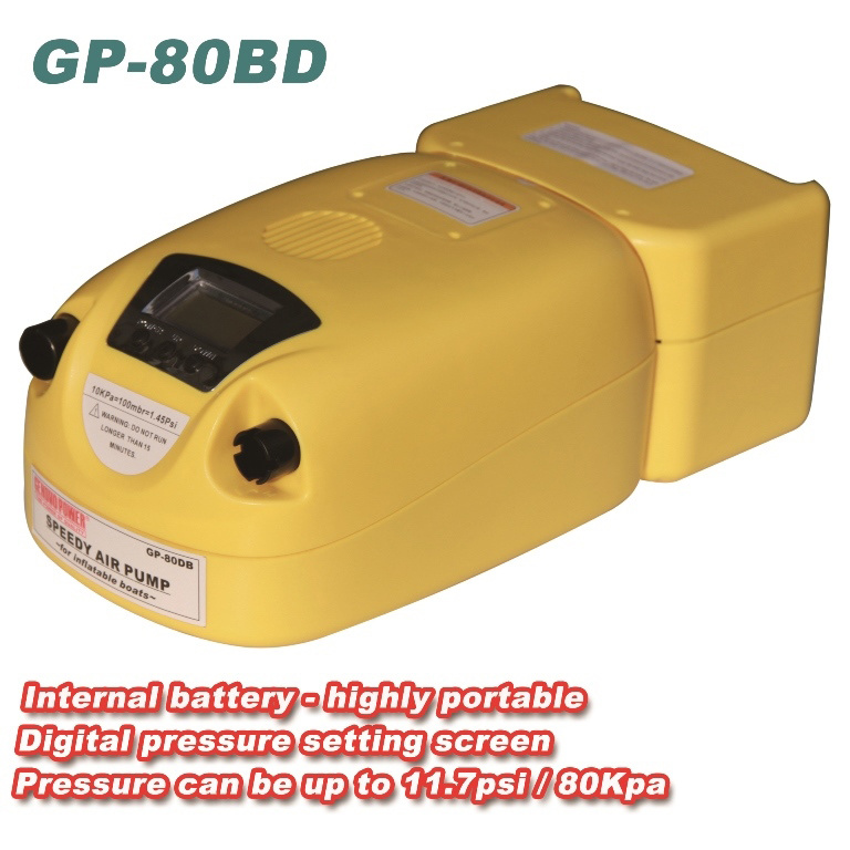 Digital 80kpa Electric Air Pump with Battery