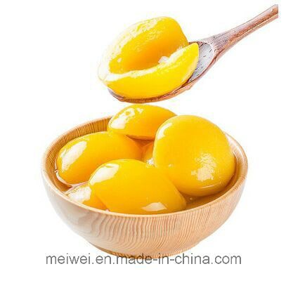 Yellow Peach Halves Canned Peach