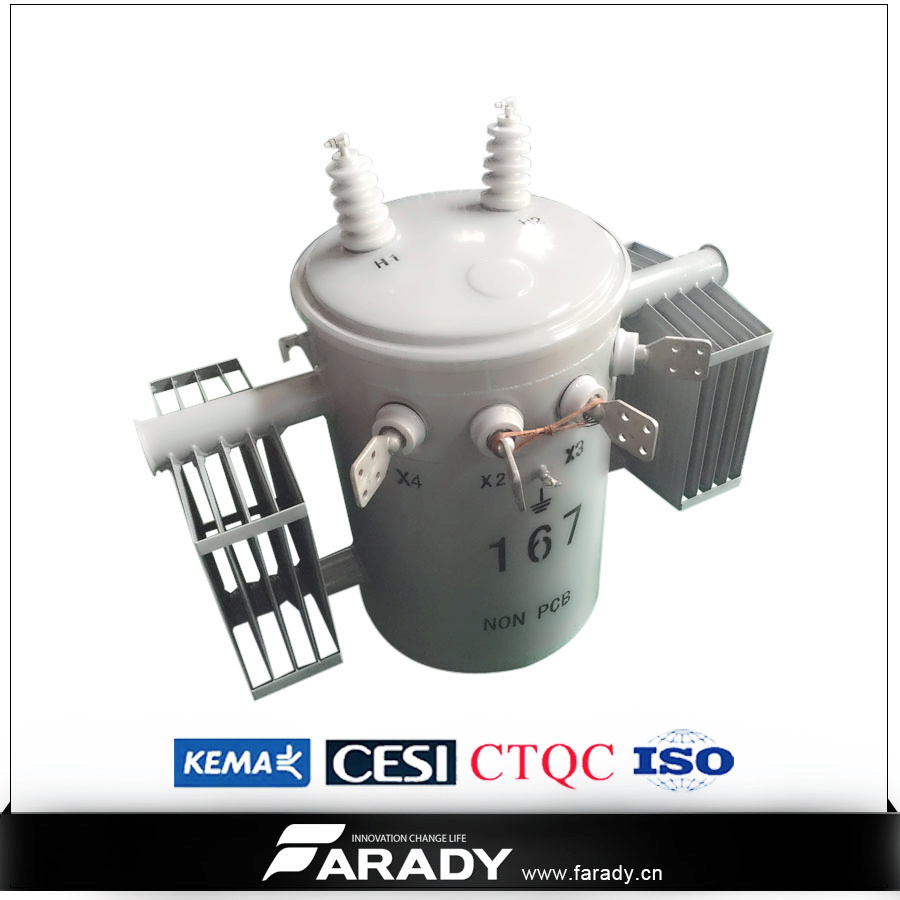13.2kv 7.62kv 75kVA Oil Type of Pole Mounted Distribution Transformer