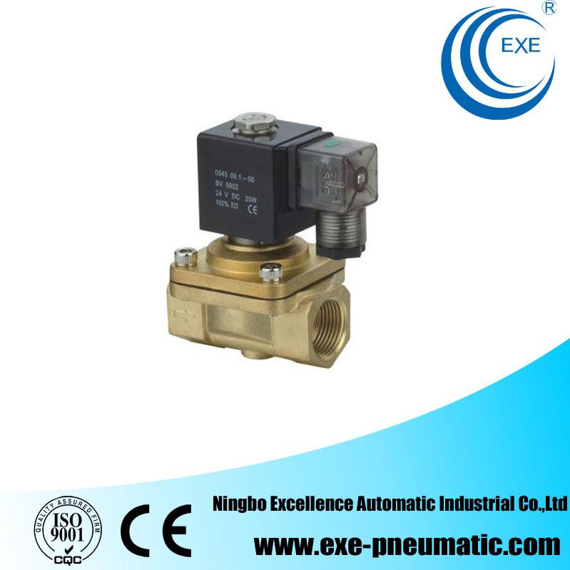 Exe PU Series Brass 2/2 Way Flow Control Solenoid Valve PU220-06