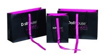 Brande Paper Packaging Bag with Ribbon for Garment, Shoes, Sunglasses Made in China