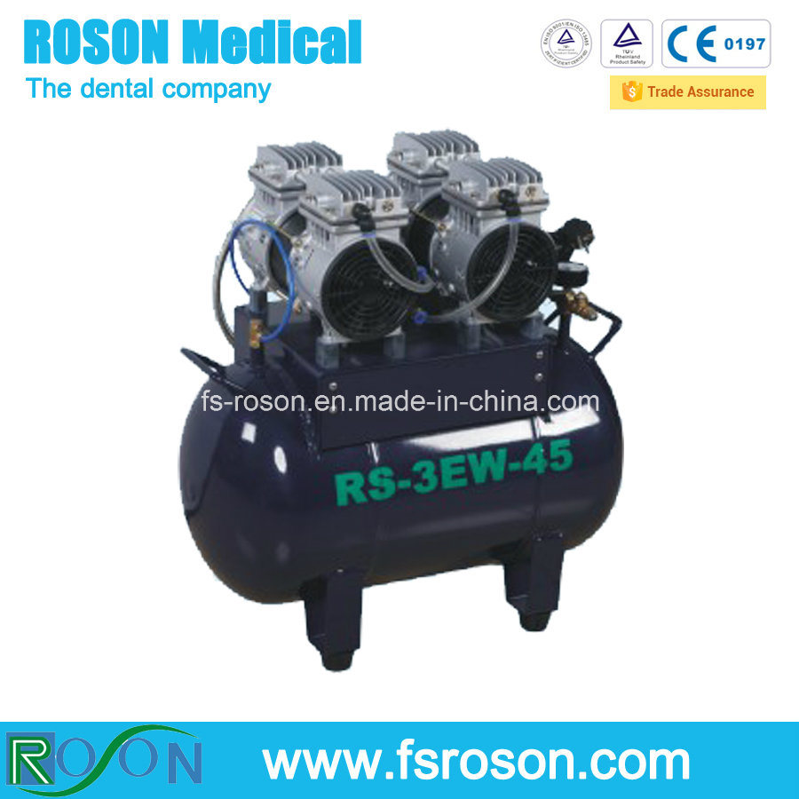 Oilless Silent Dental Air Compressor for Two Dental Unit Use