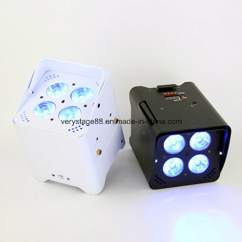 Freedom DJ Battery PAR Can Uplight 4X18W RGBWA UV 6 in 1 DMX Wireless IR LED Uplight