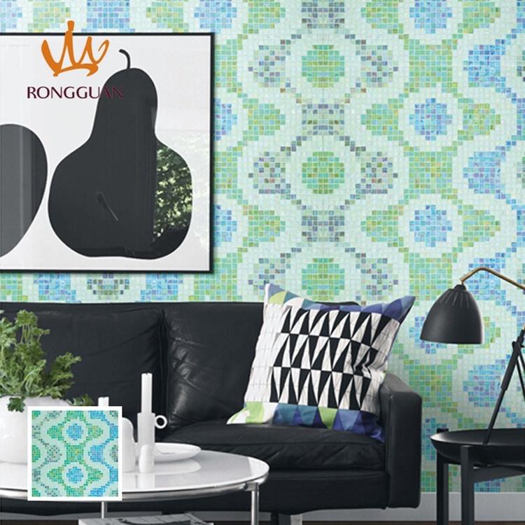 Green Mosaic Pattern Wall Decoration Mosaic Pattern Mosaic (MP874A)