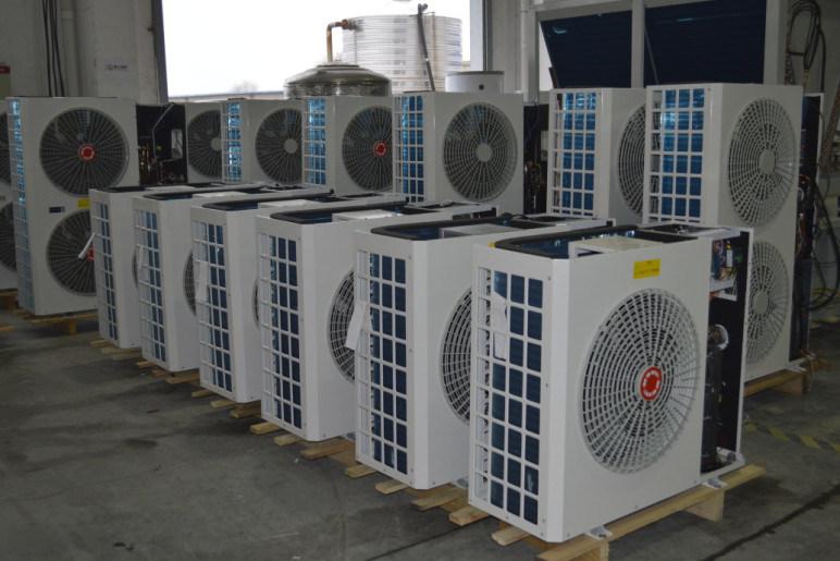 Minus 25c Winter Evi 15kw 316ss Flat Plate Heat Exchanger R407c Brine Water Heat Pump