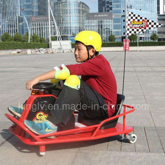 Kids Soliding Electric Trike Razor Crazy Cart with 250W Motor