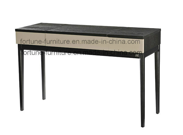 Modern Solid Wood Feet Dressing Table with Mirror and Jewelry Box (I&D-N10583)