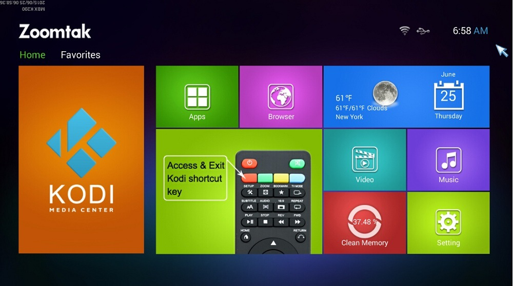 Hottest TV Set Top Box with Android 5.1 OS Kodi 16.1 Install