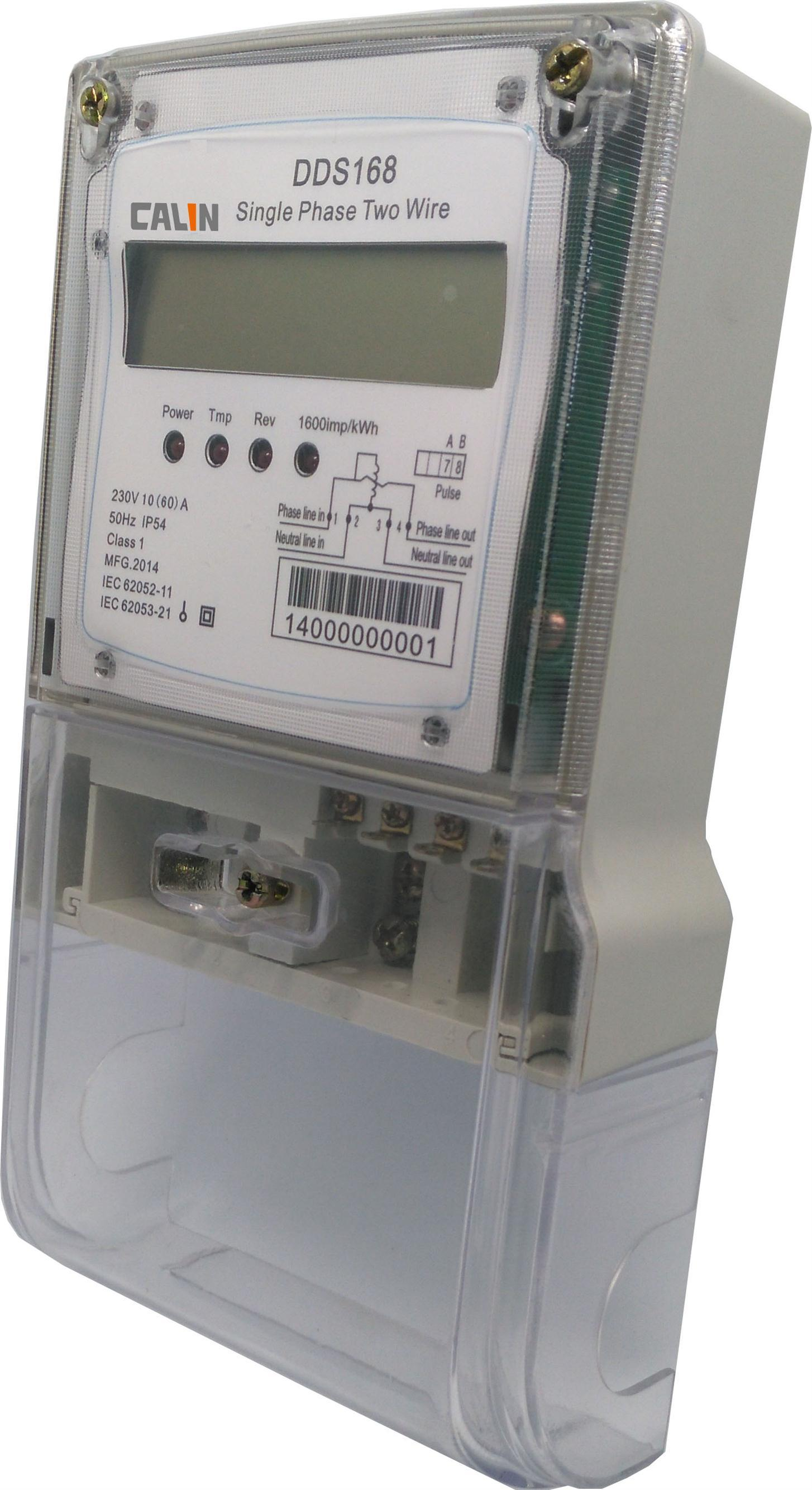 Single Phase Tamper Protection Electricity Energy Meter