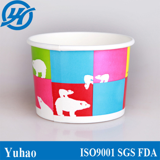 3oz Disposable Custom Logo Paper Sundae Ice Cream Cup pictures & photos