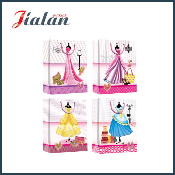 Fashion Dresses for Lady Garments Packadging Waterproof Paper Shopping Bag