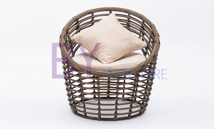 Woven Rattan Round Shape Living Room Garden Leisure Chair