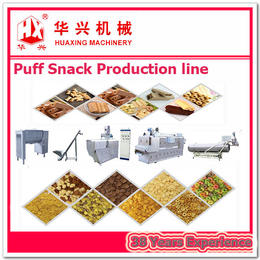 Extrusion Systems Production Line of Puff Snack (Chip/Cracker/Cheese Ball)