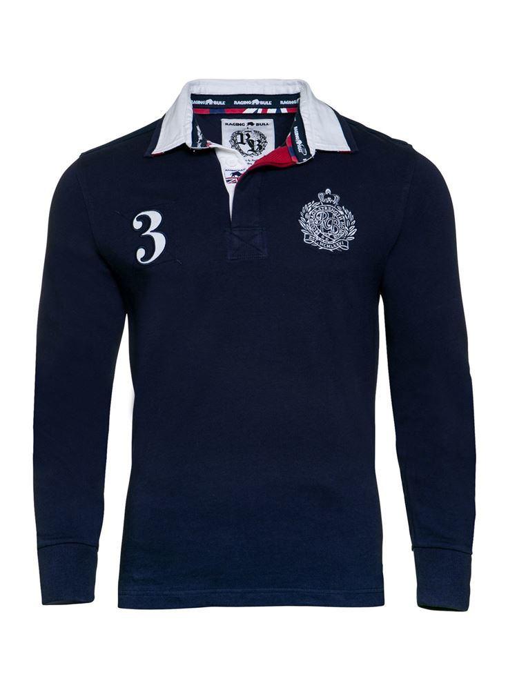 2017 Men Cotton Fashion Yarn Dye Stripe Rugby Longer Sleeve Polo Shirts Clothes (S8288)